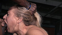 Roughly fucked Angel Allwood suffers face distortion