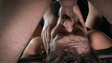 Bound Charlotte Cross gets her pussy fucked by hard cock