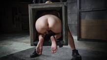 Bound blonde Odette Delacroix gags on BBC