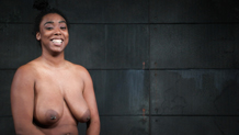 Busty Lisa Tiffian all smiles after being Sexuallybroken