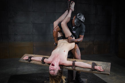 Screaming Mona Wales BBC fucked in bondage
