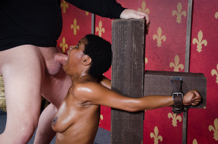 Kahlista Stonem Gives blow job in bondage