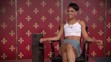 Nikki bound in high heels