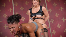 Nikki Darling face fucked by lesbian