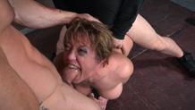 Dee sucks cock in bondage