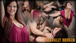 Sexy MILF Syren De Mer gets<br />what she wants; brutal face<br />fucking, two cock beatdown!