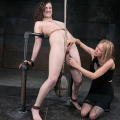 Endza Topgrl shaved pussy pussy clamps bondage