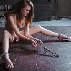 Ashley Lane has pussy flogged by London River