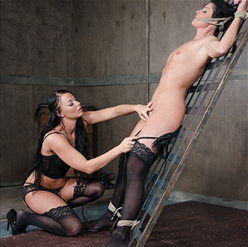 London River fits India Summer with ball gag